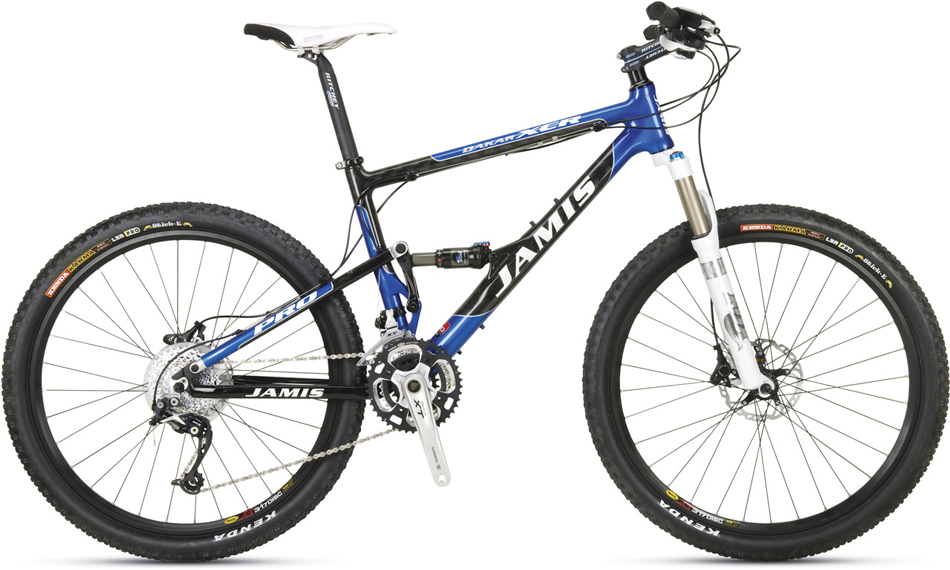 Jamis Dakar XCR Pro '09: No-nonsense fast and efficientThe Dakar XCR series is known for its crisp handling and supple suspension action. Nothing gobbles up more trail with more efficiency than the 100mm multi-link mp3 rear suspension. The XCR